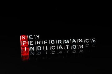 KPI Key Performance Indicato dices black