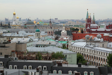 View on the center of Moscow