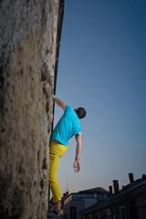 climbing the city walls