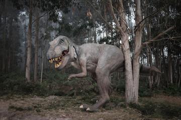 Tyrannosaurus Rex (T-Rex) im Nebel