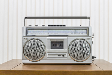 Vintage Portable Boom Box Style Radio Cassette Player