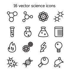 Science set icons