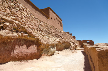 Ait Ben Haddou, in Ouarzazate province is a example of the architecture of southern Morocco.