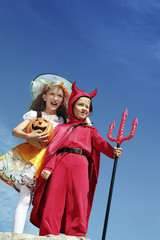 Little Red Devil and Happy Witch