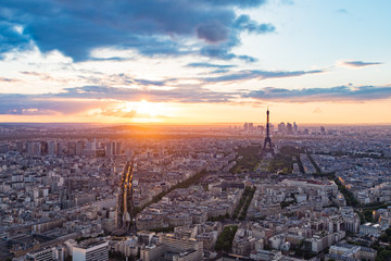 The Paris cityscape