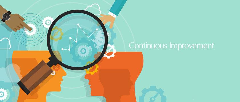 continuous improvement kaizen business concept improve