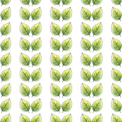 Just leaves. Seamless pattern. Watercolor background 3