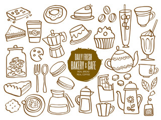 sweets bakery cafe coffee drinks doodles