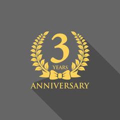 anniversary logo ribbon wreath flat 3