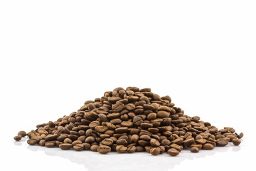 Group of roasted coffee beans.