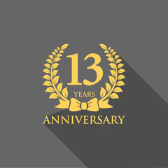 anniversary logo ribbon wreath flat 13