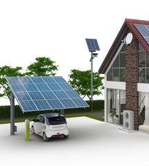 Energieversorung am Einfamilienhaus