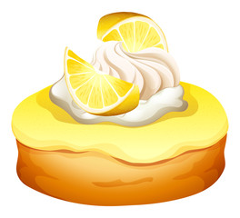 Donut with lemon flavor