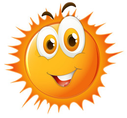 Sun with happy face