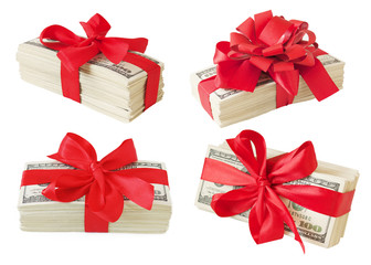 Set of money gifts