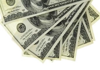 Cash. 100 Dollars US. Isolated