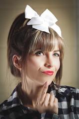 Portrait of pretty retro girl