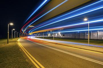 Traffic at night Fotomurales