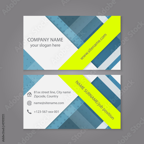 Modern Simple Business Card Template Or Visiting Set Editable Vector Design For Your Individual