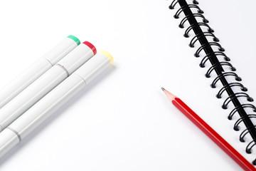 magic pen on notebook