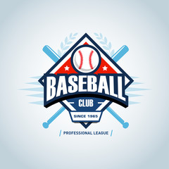 Baseball sport badge logo design template and some elements for logos, badge, banner, emblem, label, insignia, T-shirt screen and printing. Baseball logotype template.