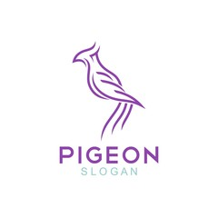 Pigeon Logo Template