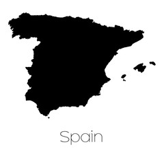 Country Shape isolated on background of the country of Spain