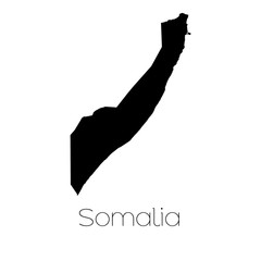 Country Shape isolated on background of the country of Somalia