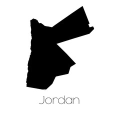 Country Shape isolated on background of the country of Jordan