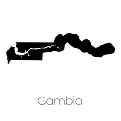 Country Shape isolated on background of the country of Gambia