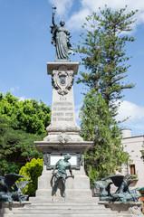 Statue of the Corregidora Jozefa Ortis de Dominguez in Santiago de Queretaro, Mexico