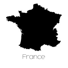 Country Shape isolated on background of the country of France