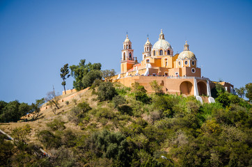 Church of Our Lady of Remedies at the top of the Cholula pyramid