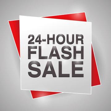 24 HOUR FLASH SALE, poster design element