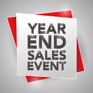 YEAR-END SALES EVENT, poster design element