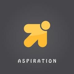 Aspiration logo template