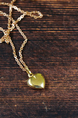 gold jewelry - necklace chain with heart