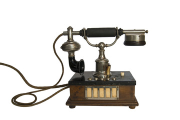 Isolated Old Vintage Telephone