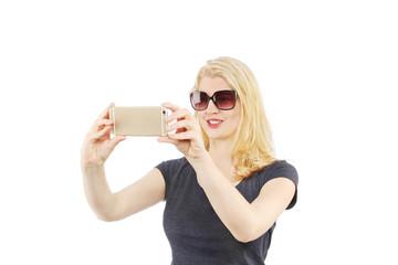 Blond selfi
