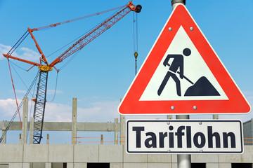 Tariflohn in der Baubranche