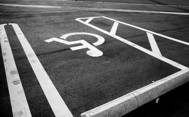 car park disable person sign