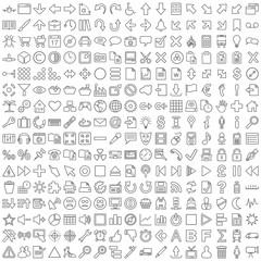 Symbole für Web und Software