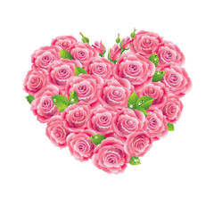 Heart shaped roses bouquet