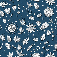 floral seamless pattern illustration.