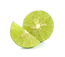 lemon, lime isolated on white