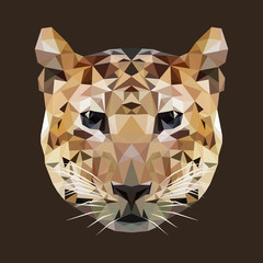 polygonal tiger, polygon geometric wild animal, vector illustrat