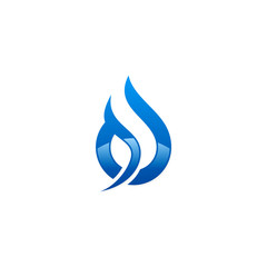 water drop abstract blue vector logo