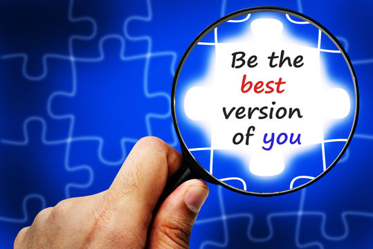 Be the best version of you word. Magnifier and puzzles.