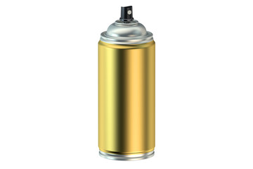 golden spray paint can