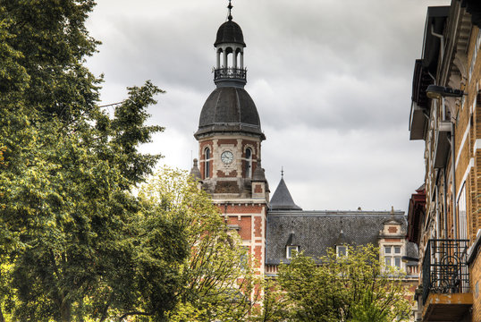 Historical building in the town of Berchem in Antwerp, Belgium